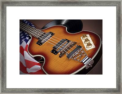 Sixties Guitar Framed Print by Norman Pogson