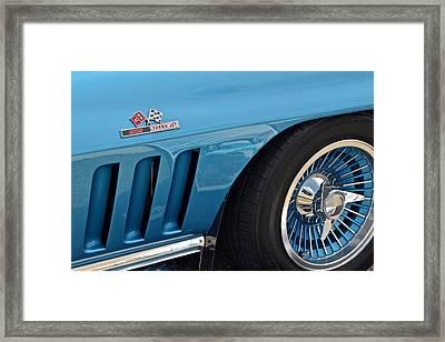 Sixty Six Corvette Roadster Framed Print by Frozen in Time Fine Art Photography