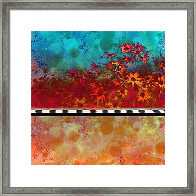 Sizzle Abstract Floral Art Framed Print by Ann Powell
