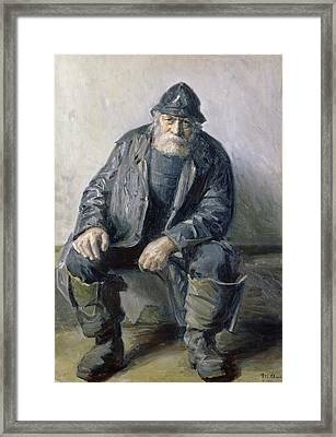 Skagen Fisherman Framed Print by Michael Peter Ancher