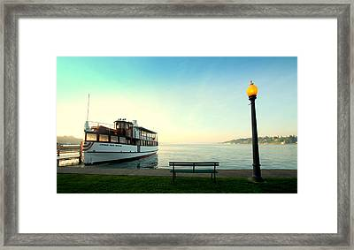 Skaneateles Lake Dinner Cruise Framed Print by Michael Carter