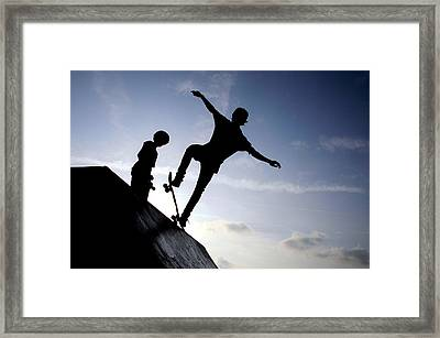 Skateboarders Framed Print by Fabrizio Troiani