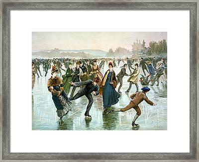Skating Framed Print by Hy Sandham