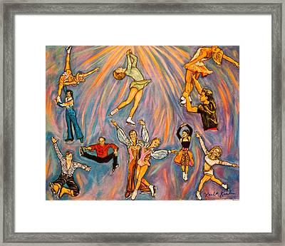 Skating Framed Print by Kendall Kessler
