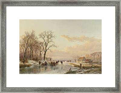 Skating On The Stream Framed Print by Mountain Dreams