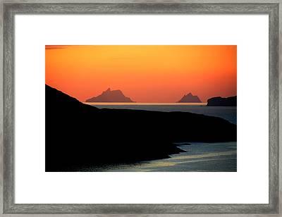 Skellig Islands  Framed Print by Aidan Moran