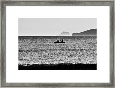Skellig Islands Boatmen Framed Print by Aidan Moran