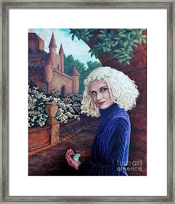 Skeptical Princess Framed Print by Laura Sapko