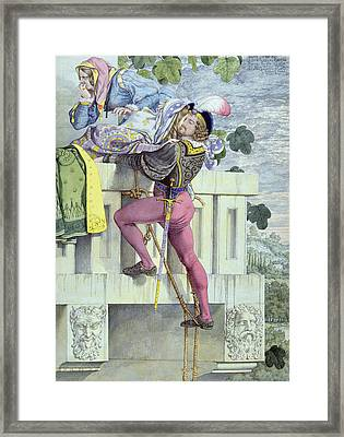 Sketch For The Passions Love Framed Print by Richard Dadd