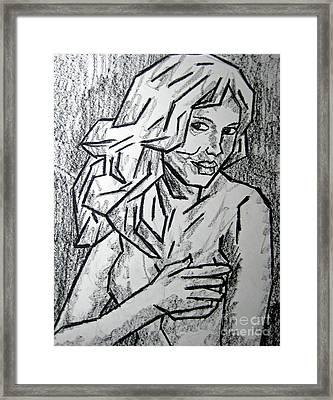 Sketch - Nude 2 2011 Series Framed Print by Kamil Swiatek