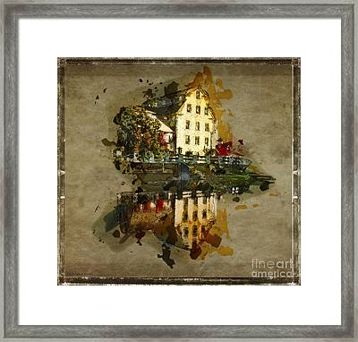 Sketch Of The Old Mill - Cedarburg Framed Print by Mary Machare