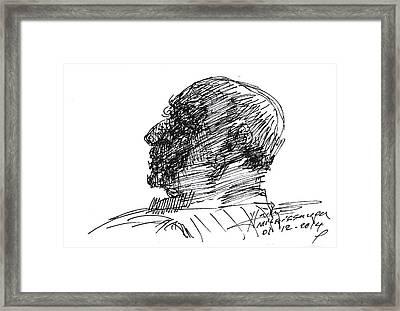 Sketch Framed Print by Ylli Haruni