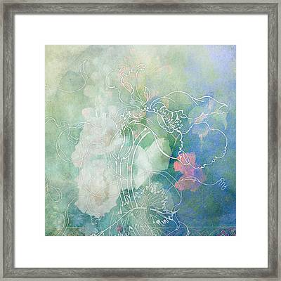 Sketchflowers - Hollyhock Framed Print by Aimee Stewart