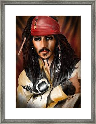 Sketching A Pirate... Framed Print by Alessandro Della Pietra
