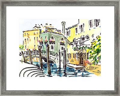 Sketching Italy Venice Canale Framed Print by Irina Sztukowski