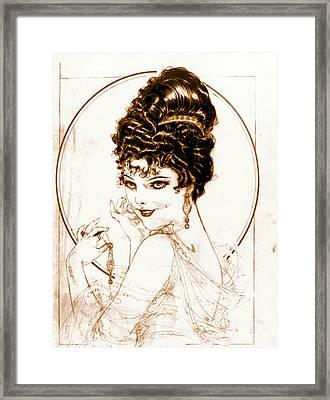 Sketchy Look 1919 Framed Print by Padre Art