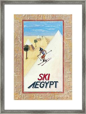 Ski Aegypt Framed Print by Richard Deurer