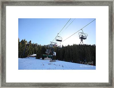 Ski Lifts At Squaw Valley Usa 5d27612 Framed Print by Wingsdomain Art and Photography