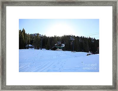 Ski Lifts At Squaw Valley Usa 5d27634 Framed Print by Wingsdomain Art and Photography
