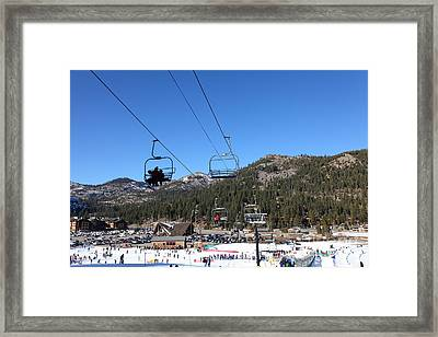 Ski Lifts At Squaw Valley Usa 5d27639 Framed Print by Wingsdomain Art and Photography