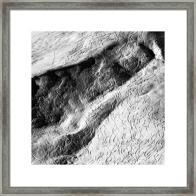 Ski Traces Framed Print by Frank Tschakert