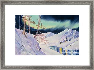 Ski Trail Framed Print by Teresa Ascone