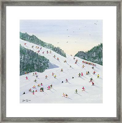 Ski Vening Framed Print by Judy Joel