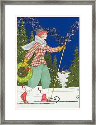 Ski Vogue Framed Print by Lynn Bywaters