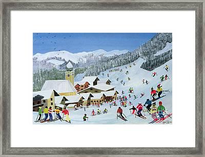 Ski Whizzz Framed Print by Judy Joel