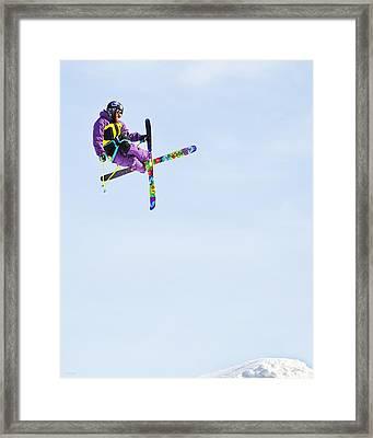 Ski X Framed Print by Theresa Tahara