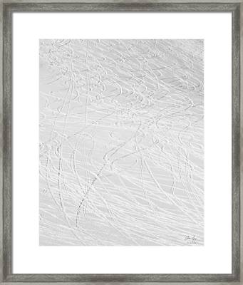 Skier's Abstract Framed Print by Aaron Spong