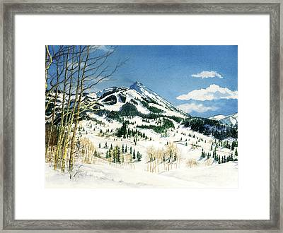Skiers Paradise Framed Print by Barbara Jewell