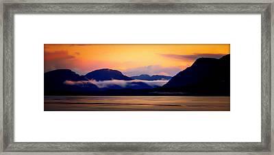 Skies Of Silk Framed Print by Karen Wiles