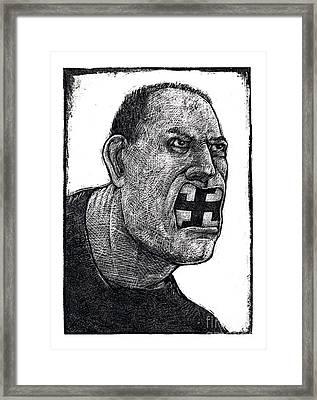 Skinhead-2 Framed Print by Chris Van Es