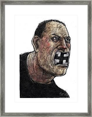 Skinhead Framed Print by Chris Van Es