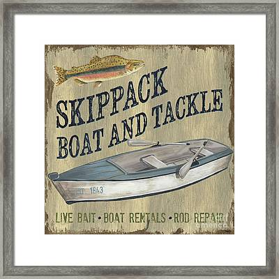 Skippack Boat And Tackle Framed Print by Debbie DeWitt