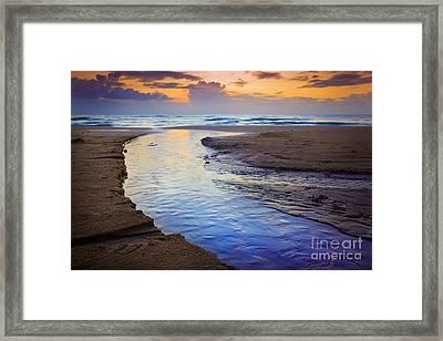 Skiveren Beach Framed Print by Inge Johnsson