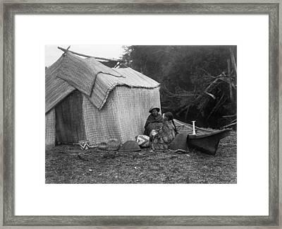 Skokomish Dwelling, C1913 Framed Print by Granger