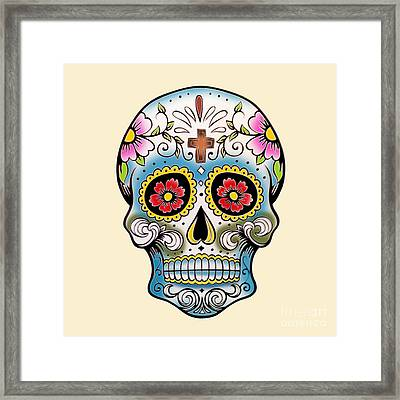 Skull 10 Framed Print by Mark Ashkenazi