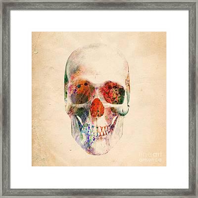 Skull 12 Framed Print by Mark Ashkenazi