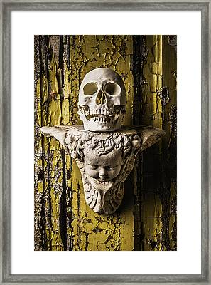 Skull And Angel Framed Print by Garry Gay