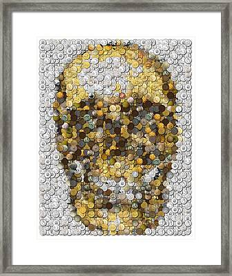 Skull Coins Mosaic Framed Print by Paul Van Scott