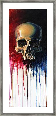 Skull Framed Print by David Kraig