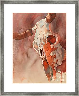 Skull Of The Brave Framed Print by Robert Hooper