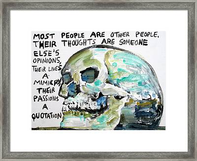Skull Quoting Oscar Wilde.10 Framed Print by Fabrizio Cassetta