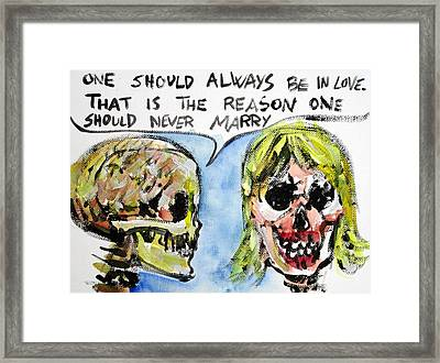 Skull Quoting Oscar Wilde.5 Framed Print by Fabrizio Cassetta