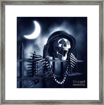 Skull Framed Print by Tony Cordoza