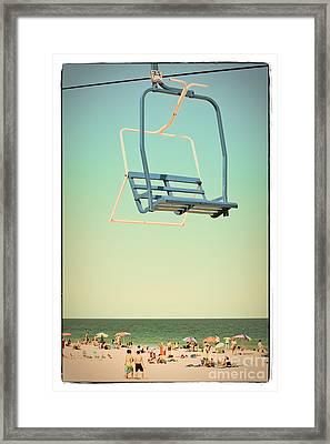 Sky Blue - Sky Ride Framed Print by Colleen Kammerer