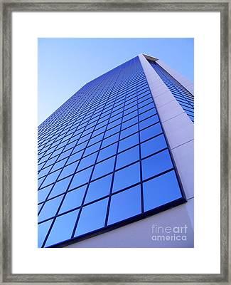 Sky Blue X 2  Framed Print by Lin Haring