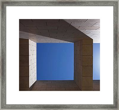 Sky Box At The Getty  Framed Print by Rona Black